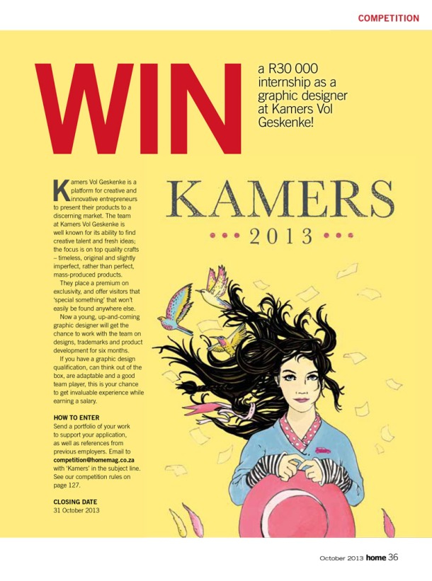 Become our KAMERS 2014 graphic design intern, while gaining experience & earning a salary