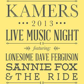Live Music Night at KAMERS 2013Stellenbosch