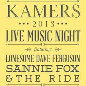 Live Music Night at KAMERS 2013 Stellenbosch