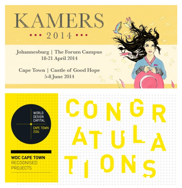 Announcing KAMERS 2014 Johannesburg, 18-21 April and our official WDC2014 project, KAMERS 2014 Cape Town, 5-8 June .