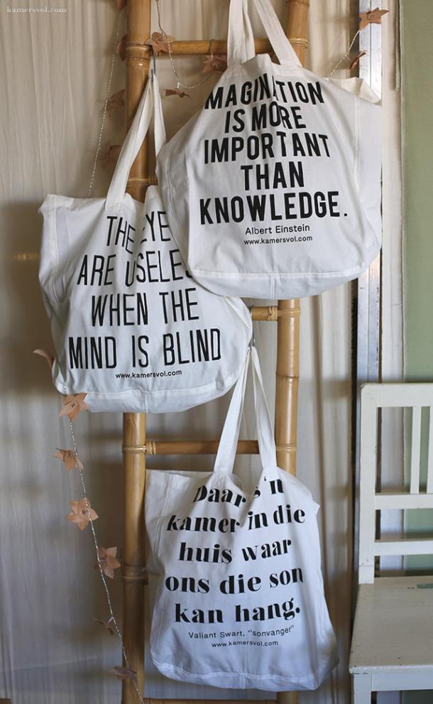 KAMERS shopping bags. Photo: Charl du Preez