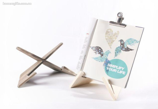 Wooden iPad or book stand from KAMERS Gifts Australia - www.kamersgifts.com.au