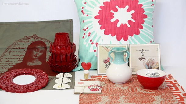 Beautiful new red and teal products at KAMERS 2013. Photo: Charl du Preez