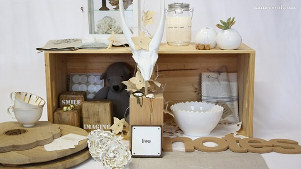 Beautiful new natural and white products at KAMERS 2013. Photo: Charl du Preez