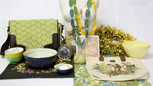 Beautiful new green and yellow products at KAMERS 2013. Photo: Charl du Preez