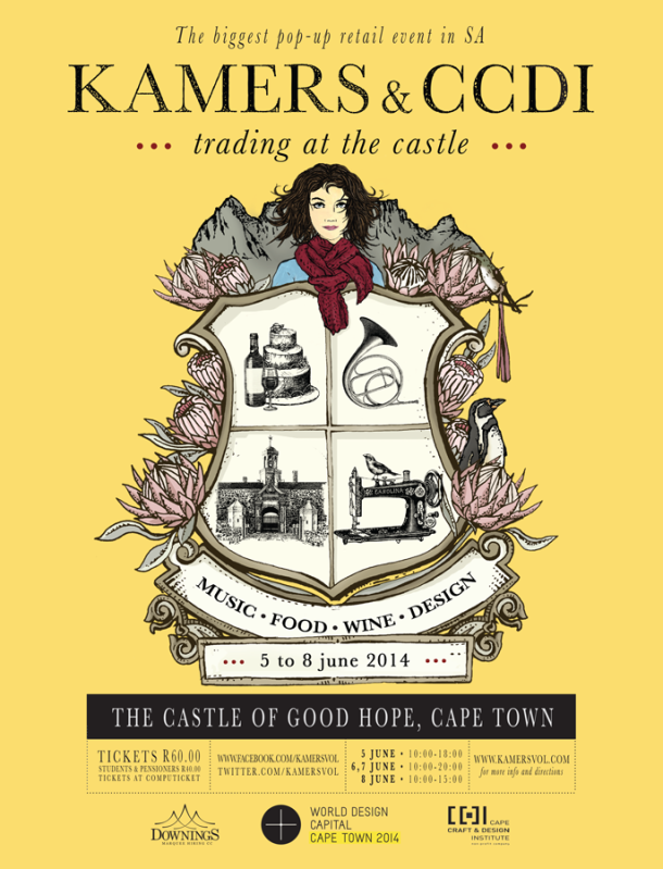 KAMERS & CCDI: Trading at the Castle, Cape Town, 5-8 June 2014, World Design Capital Cape Town 2014 event - www.kamersvol.com