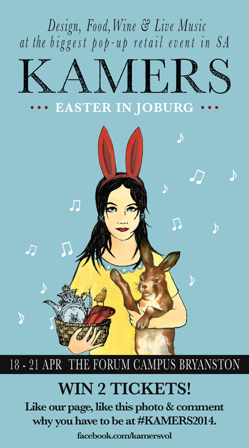 Win tickets to KAMERS 2014 Easter in Joburg