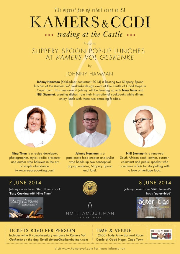 Johnny Hamman's Pop-Up Lunches at KAMERS in Cape Town