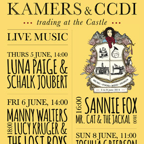 Live Music Line-Up at KAMERS in CapeTown