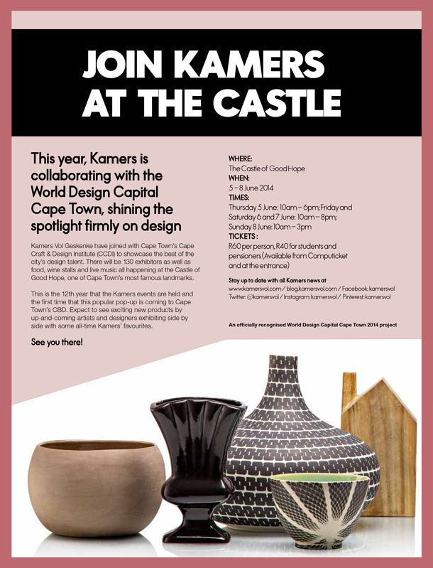 Join ELLE Decoration at KAMERS at the Castle, 5-8 June - www.kamersvol.com - Ceramic, pottery and antique bowls and vases