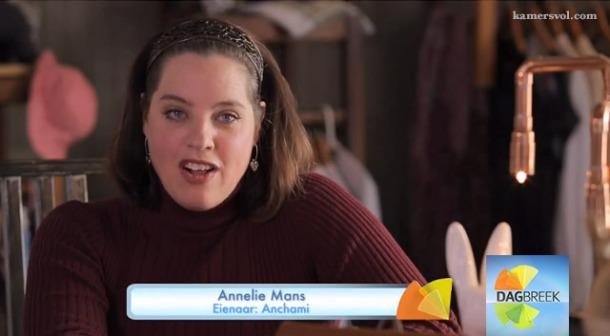 Annelie Mans - Anchami op kykNET Dagbreek - www.kamersvol.com