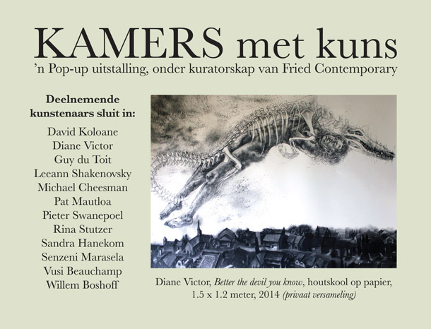 KAMERS met kuns pop-up exhibition curated by Fried Contemporary - 2-7 Dec, Irene, Pretoria - www.kamersvol.com