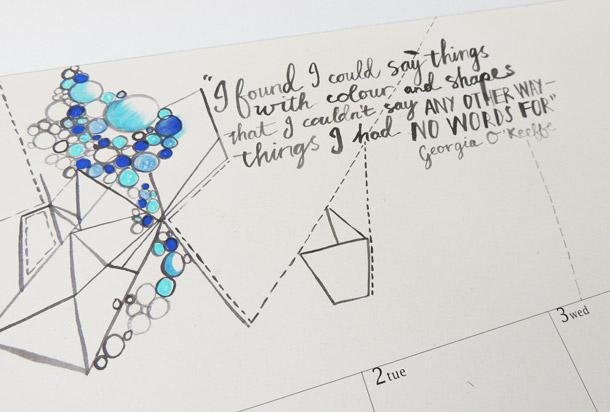 Georgia OKeeffe Quote - Kopineenmus Doodle Calendar 2015 - KAMERS Online Store - shop.kamersvol.com