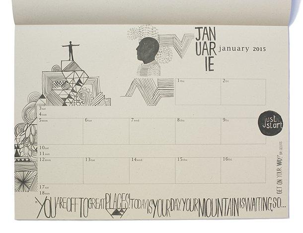Kopineenmus Doodle Calendar 2015 - KAMERS Online Store - shop.kamersvol.com