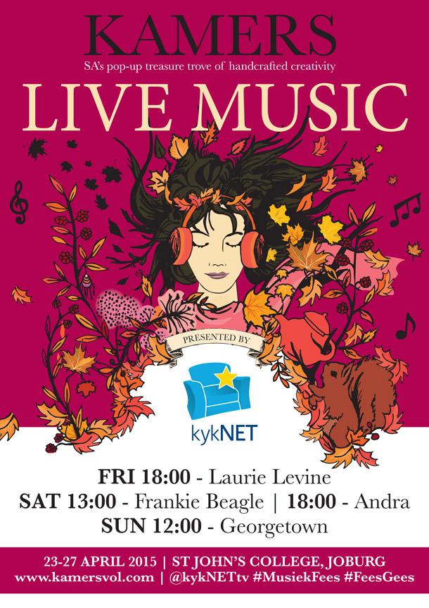 Live Music at KAMERS 2015 Joburg, 23-27 April at St John's College